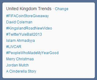 FIFA Coin Store as the top trend on Twitter