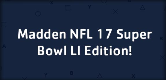 Madden NFL 17 Super Bowl LI Edition On Sale For $19.80!