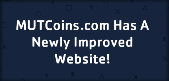 MUT Coins.com - Our Brand New Website Design!