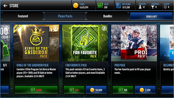 Madden Packs, MUT Packs