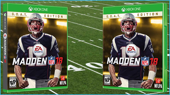 Madden GOAT Edition, Madden Game, Madden 18 Cover, Tom Brady