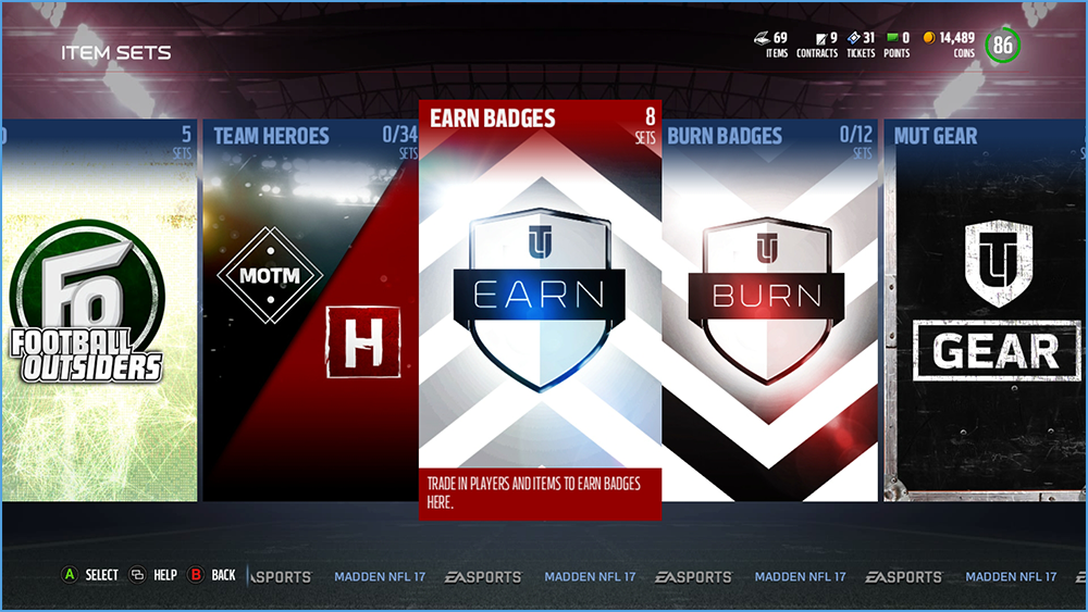 Madden Badges