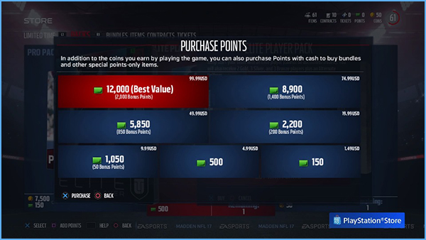 Buy MUT Points, MUT Points, Madden Points, Buy Madden Points