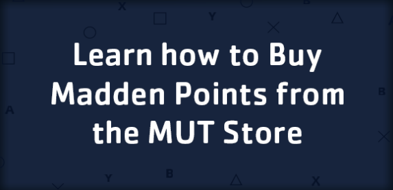 Learn how to Buy Madden Points from the MUT Store